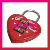 3 Digit Combination HEART Padlock-Set Of 2