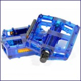 Bicycle Pedals BLUE-Transparent
